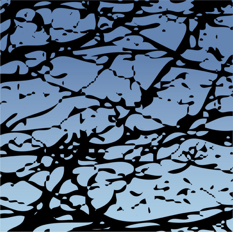 vector abstract sky and tree  -  - Arte digital