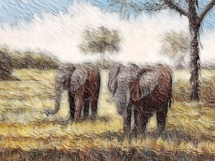 ELEPHANTS_AU CRAYÓN -  - DESSING ART 111