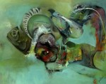 Praying fish - Mixta/tela 2011 -  - Didier Galindo