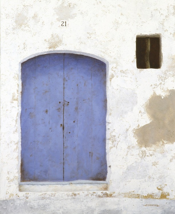 Blue door, acrylic on canvas 60 x 73 cm -  - Pintura