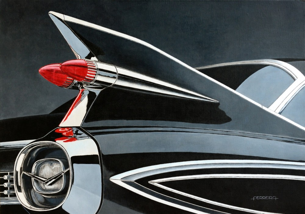 '59's Fleetwood, acrylic on canvas 92 x 65 cm -  - Pintura