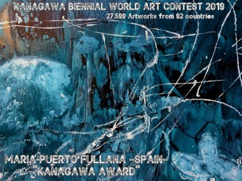 """Sottomarino Kanagawa""  obtiene el ""Premio Kanagawa"" en el Certamen Mundial de arte Joven Kanagawa Biennial World art Contest 2019  Competían 27.599 obras de 92 países. Expo Earth Plaza Gallery  y tour de Sept-19 a May-20 Instituciones Kanagawa  -  - MPF"