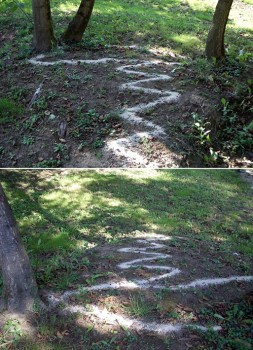 Interconectados (intervencion con arena) -  - LAND ART