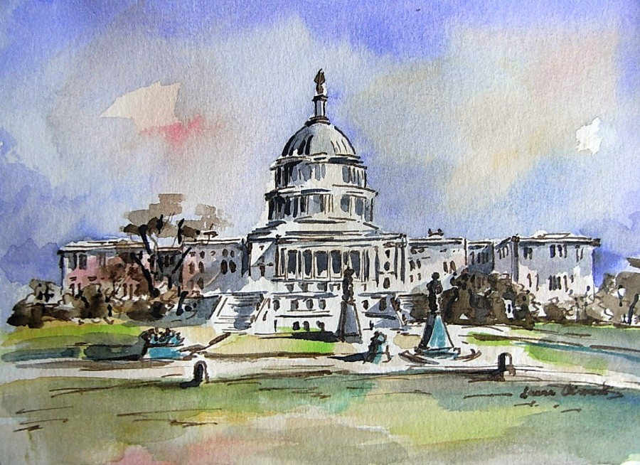 """Washington. Capitolio"" -  - Dibujos"