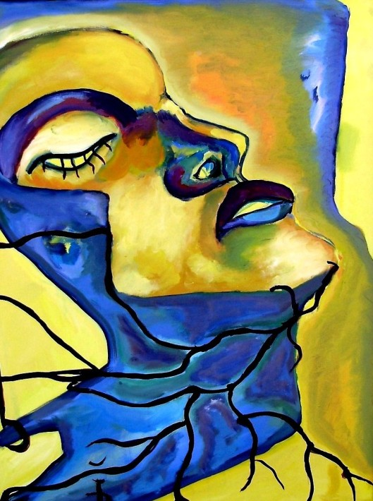 Profile of a Woman -  - EXPRESSIONIST ARTWORK BY DANIELA ISACHE