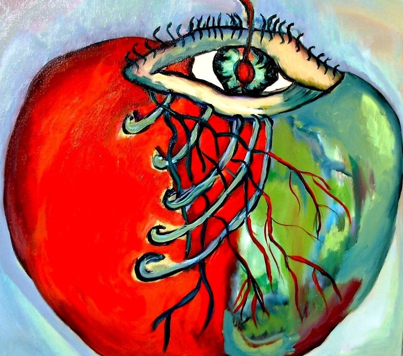The Look og an Apple -  - EXPRESSIONIST ARTWORK BY DANIELA ISACHE